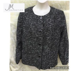 JM Collection size 18 button down lined jacket